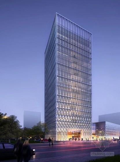 [山东]18层现代风格参数化立面商务中心设计方案文本(知名设计院)