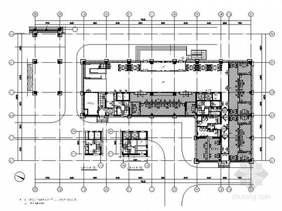 [乌鲁木齐]中石油现代指挥中心办公区辅楼A室内装修施工图(含方案)
