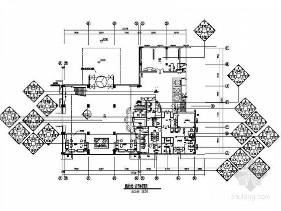 [北京]现代时尚风格商务酒店大堂设计装修图(含效果)