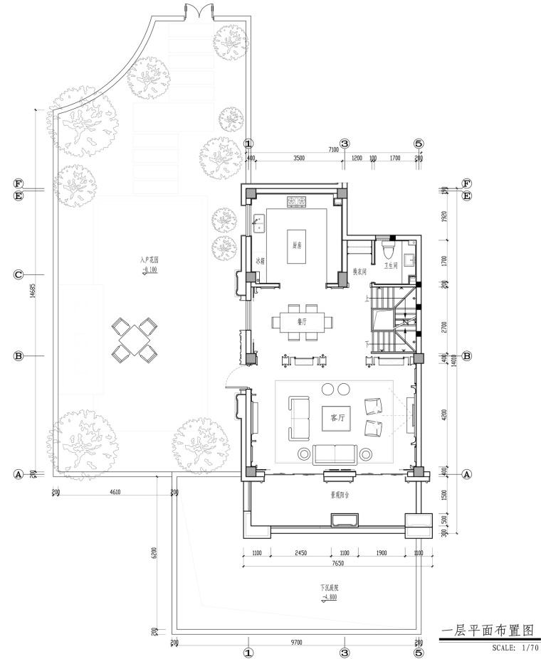 [福州]金辉半岛别墅B户型设计施工图及效果图