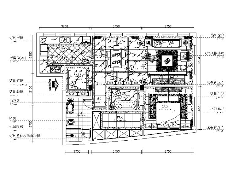 [重庆]现代风格复式楼设计CAD施工图(含效果图)