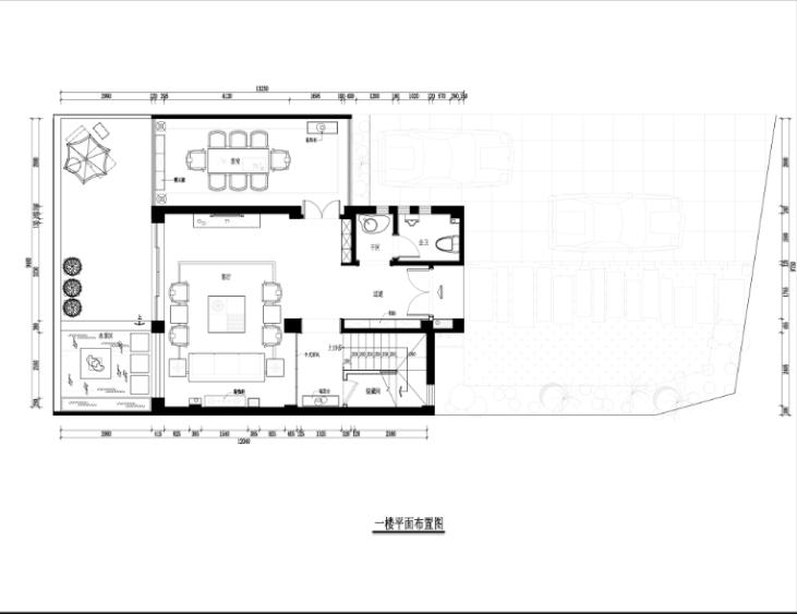 某中式建欧别墅室内装修设计施工图及效果图_7