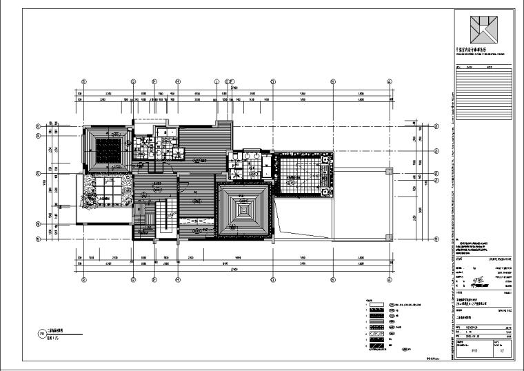 新华学府某别墅J1-2户型室内设计施工图