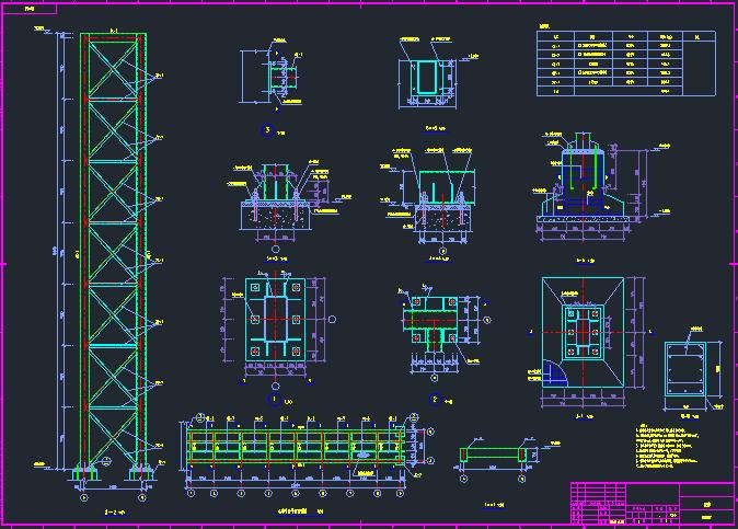 廊桥(连廊)结构施工图