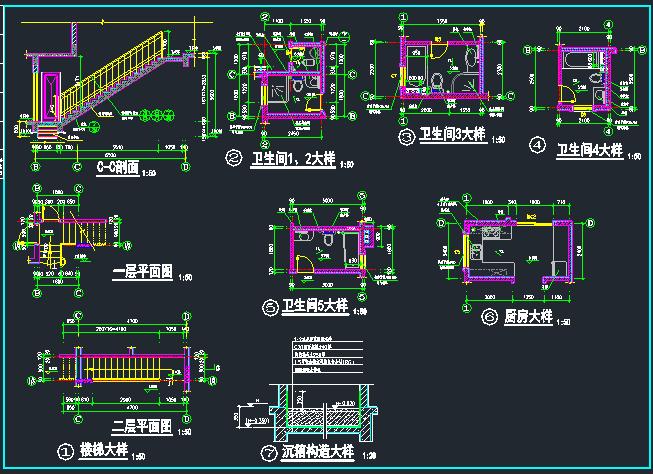 欧式别墅建筑结构施工图_5