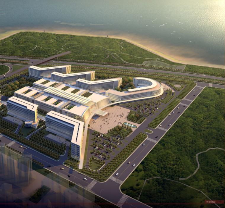 [深圳]現代簡潔風格群落式市級醫院建筑設計方案文本