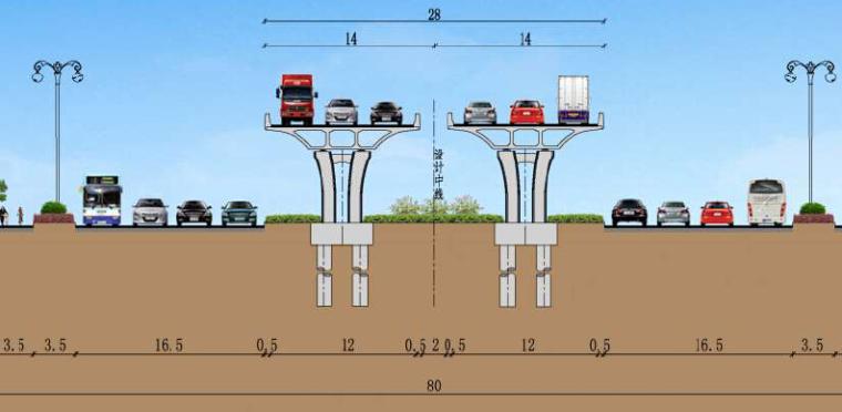 高架标准断面图