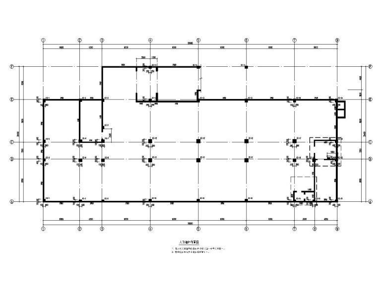 安徽学校地下室建筑结构施工图纸_2
