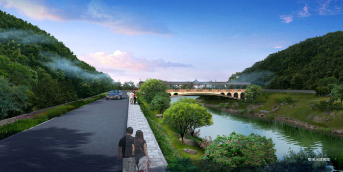 [浙江]乡镇环境综合整治改造城市规划景观设计-景观效果图12