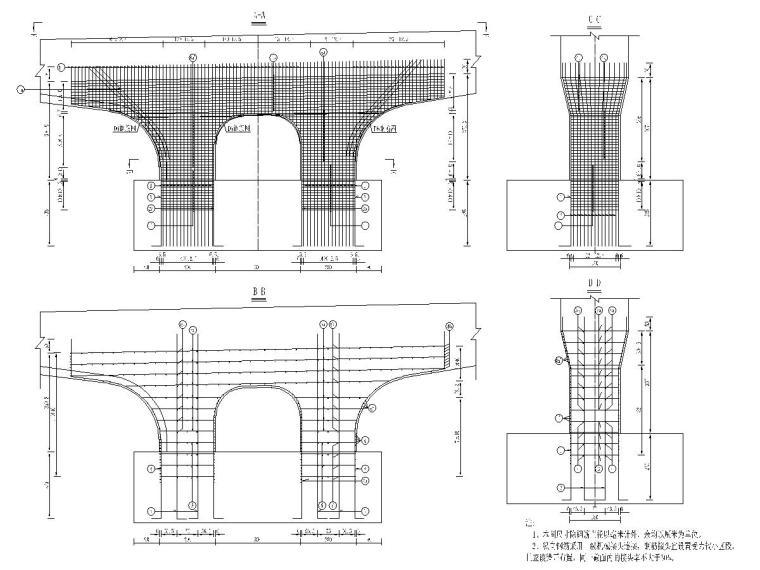 城市次干道全套施工图设计392张(含桥涵,交通,景观)