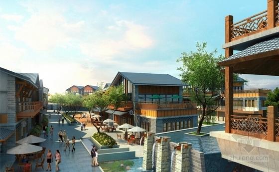3套中式风格大型旅游度假区建筑效果图