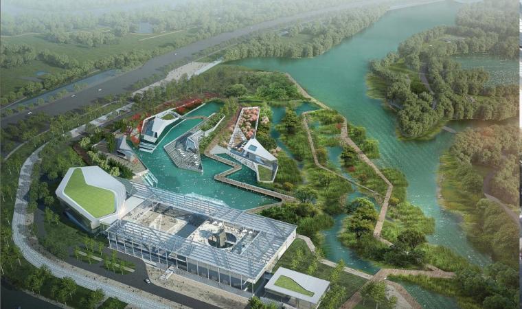 [广东]高层岭南风格园林式文化中心建筑设计方案文本
