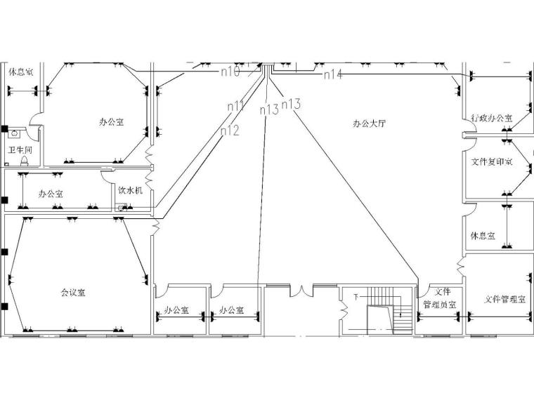 [河南]一大型电子厂房电气设计图