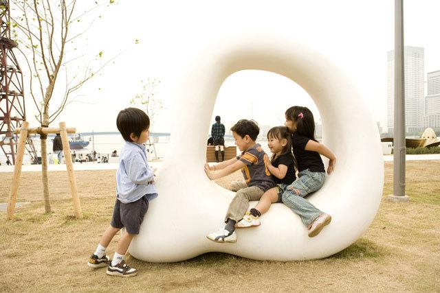 东京丰州LaLaport码头休闲区景观设计_13