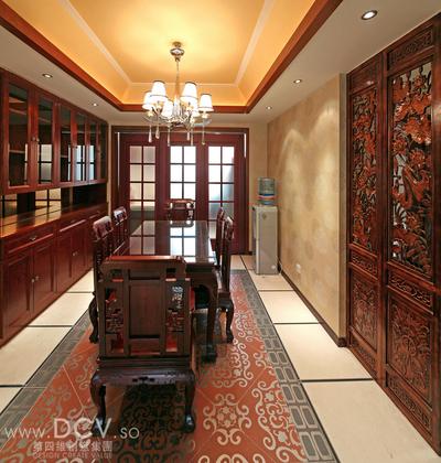 西安具有东方韵味得别墅设计-绿地世纪城样板间_6