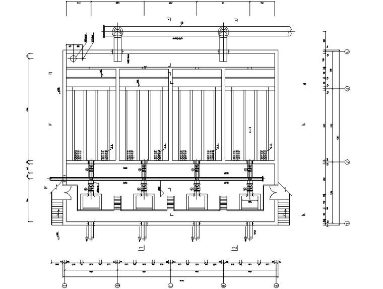 四万吨污水厂中水回用工艺图纸(CAD)