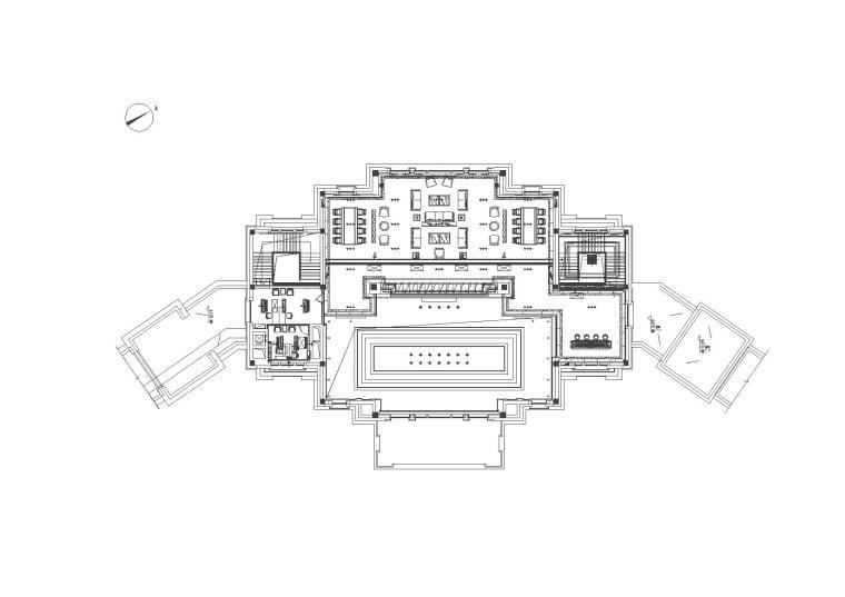 御景国际售楼部设计施工图(CAD)