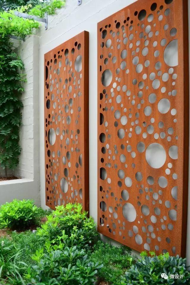 各式各样的庭院景观墙,美_31