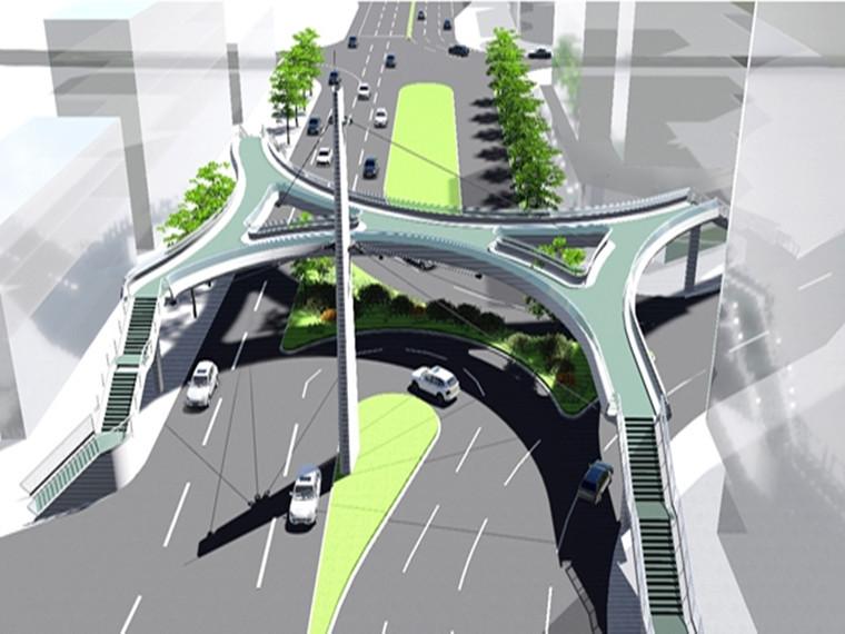 新建人行天桥钢箱梁运输及安装施工方案