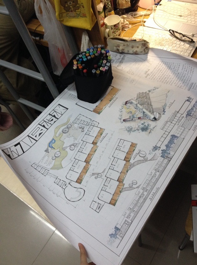 幼儿园设计-之前画图的时候拍的 ,上交了,第1张图片