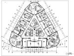 [上海]详细全套5A级办公楼装修施工图含效果图