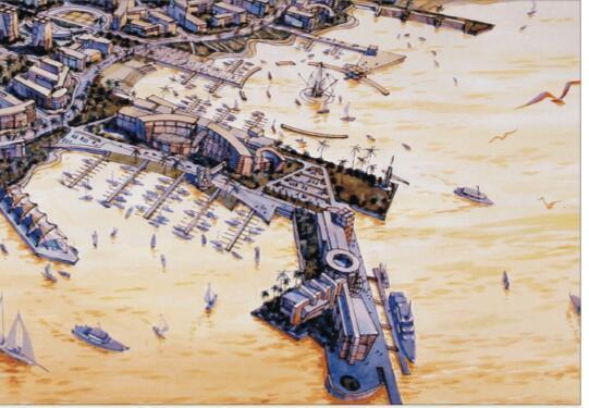 抚州市城市新区中心区控制性详细规划设计方案-02江轮码头和游艇码头