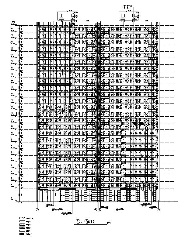 [河南]26层塔式住宅建筑施工图(16年全专业图纸)_4