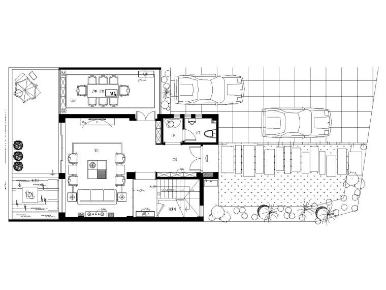 某中式建欧别墅室内装修设计施工图及效果图