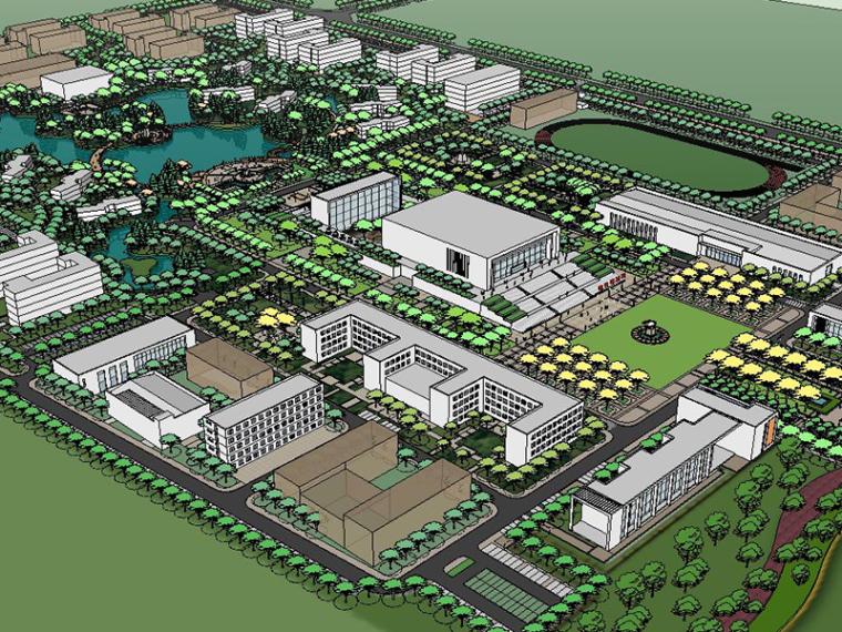 某城市规划设计SU建筑模型