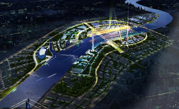 上海世博会规划设计方案文本-总鸟瞰图