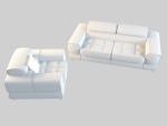 宽厚舒适沙发3D模型下载