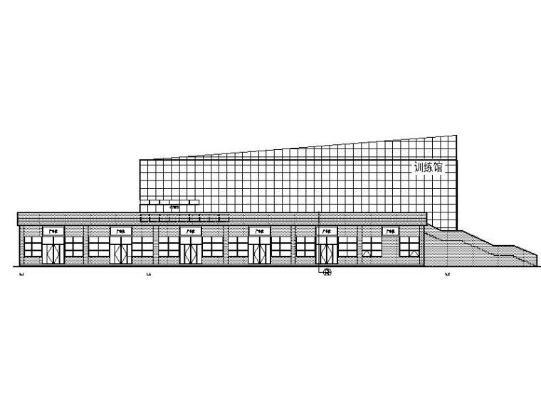 [新疆]大型体育公园现代风格训练馆建筑施工图