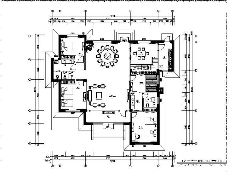 [大连]现代精装别墅设计施工图
