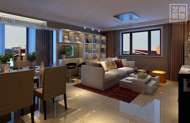 郑州金地格林小城88平方三室两厅现代简约装修需要多少钱?