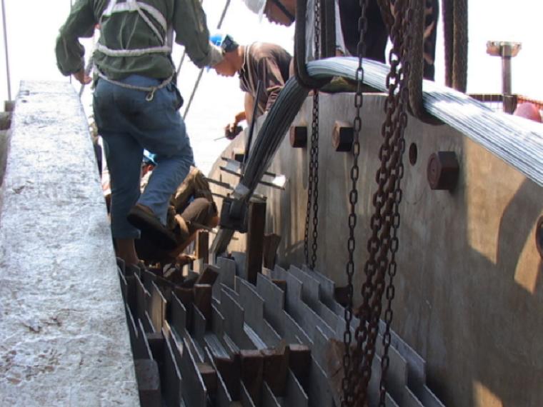 [浙江]特大型跨海桥上部结构主缆索股架设施工方案