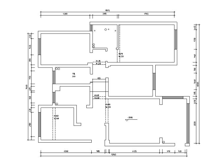 现代风格样板房设计施工图(附效果图)