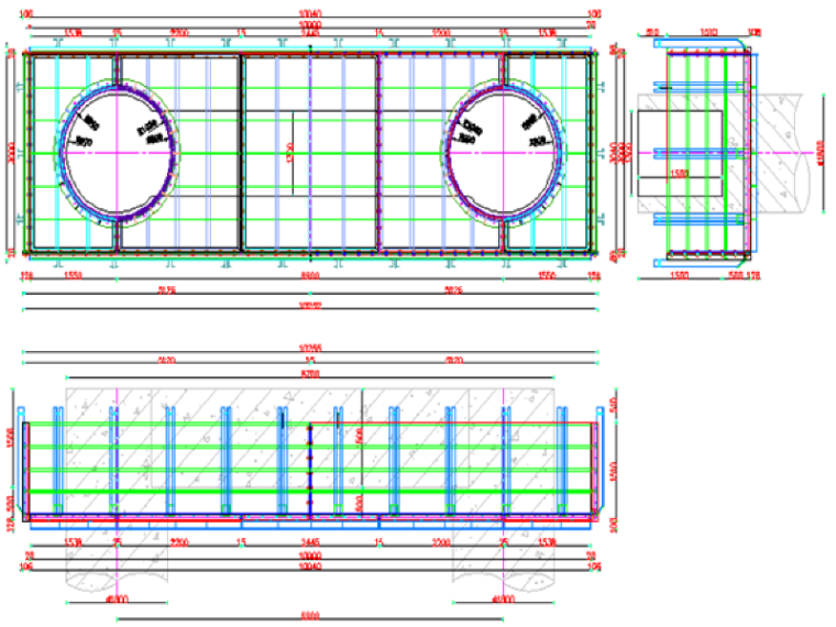 u梁模板设计资料下载-[福建]三明市积善桥水下系梁钢套箱方案(附多张模板设计图)