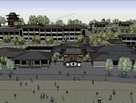 中式园林酒店建筑模型设计
