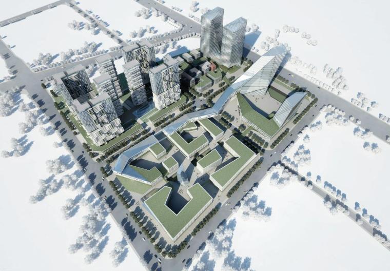 [四川]高层现代风格办公产业园规划设计方案文本
