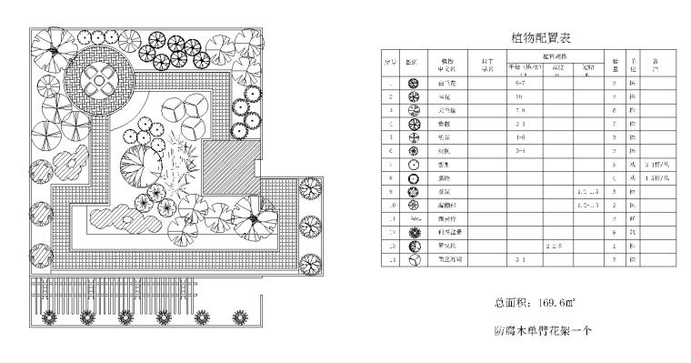 21套屋顶花园CAD施工图(18)