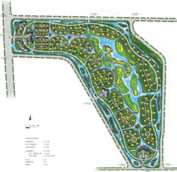 [江苏]滨水湿地公园果岭绿地养生园旅游度假村景观详细设计方案