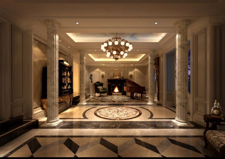 福州安妮女王法式别墅室内设计效果图方案(含43张图片)
