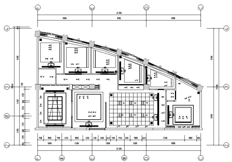 [山东]混搭风格置业办公空间设计施工图(附效果图)