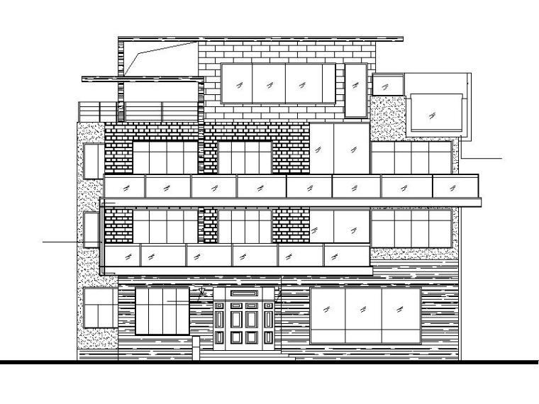 现代风格三层独栋别墅建筑设计文本框架结构(包含效果图)