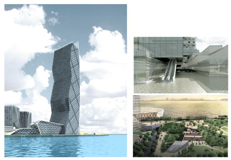 武汉江夏云中心建筑设计别墅方案单层180平文本设计图图片