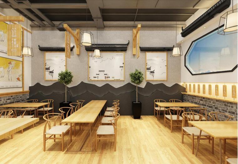 合肥餐饮店装修设计__混沌馆装修空间设计效果图欣赏