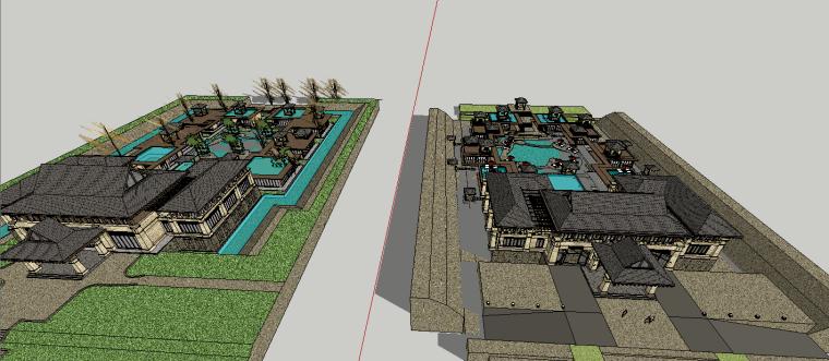 新中式古典会所建筑模型设计-场景四