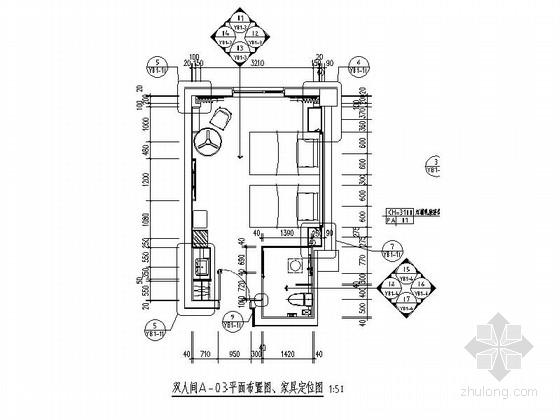 [湖南]休闲时尚酒店客房室内施工图(含效果图)