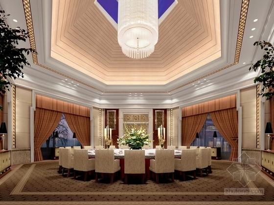 [河北]奢华古典山水园林式宾馆精装修设计方案图贵宾厅效果图