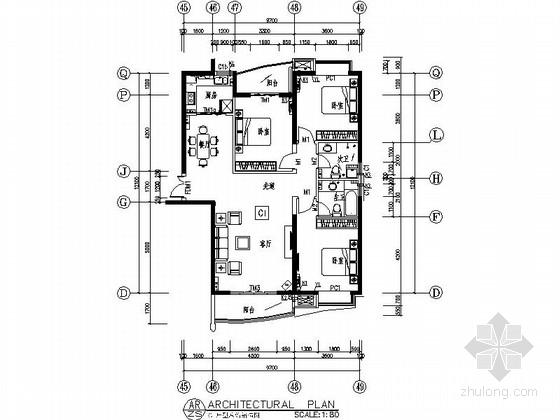 [郑州]经典新古典欧式风格三居室样板房装修图(含效果)